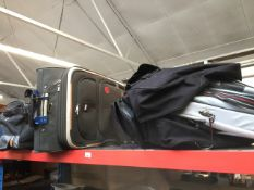 Large quantity of bags, holdalls, travel bags, including wheelie.