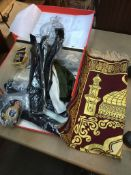 Quantity of belts, badges, gloves, shawl, etc.