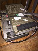 A Kisho and a Ferguson cassette recorders