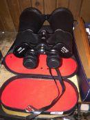 A pair of 20X80 Viper binoculars in case.