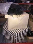 2 boxes of ladies fashion hats.