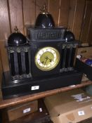 Antique 8 day marble clock.