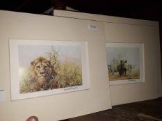 2 signed David Shepherd prints