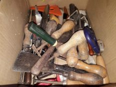 A box of decorating tools