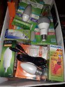A box of light bulbs