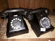 Two vintage bakelite GPO telephones.