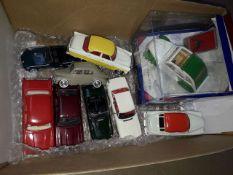 Box of diecast vehicles. 1 x Corgi boxed, 4 x Corgi, 2 x Corgi Vanguards, 1 x Dinky Atlas & 1 x