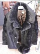 A faux fur jacket.