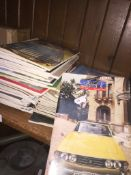A Triumph Stag owners club magazines
