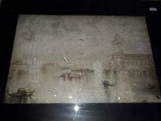 """""""The Guidecca Venice"""" print and glazed frame."""