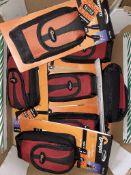 A box of seven lowepro camera cases.