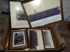 A box of military photographs.