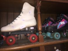 2 sets of roller boots
