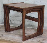 A G-Plan teak nest of tables.
