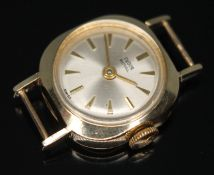 A 1960s hallmarked 9ct gold Rolex Tudor Royal ladies wristwatch having signed champagne dial with