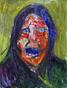 "James Lawrence Isherwood (1917-1989), ""Decimalisation Wigan Woman Remarking"", oil on board, 30cm x"