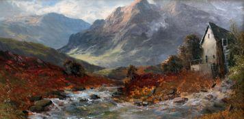 Alfred de Breanski (1877-1957), pair of landscapes, oil on canvas, 49cm x 24cm, both signed lower