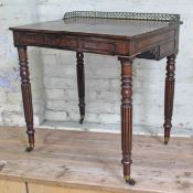 A George IV late Regency mahogany combination writing and dressing table circa 1820 in the manner