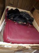 A box of handbags