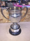 A hallmarked silver trophy inscribed 'Cardwell Trophy Presented to the West Lancashire Music
