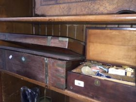 A writing slope and a small haberdashery box with MOP inserts