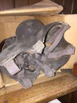 WW2 gas mask in box.
