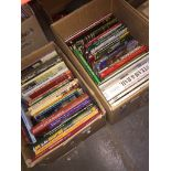 2 boxes containing over 60 books - Railway interest