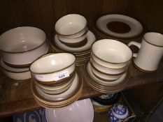 Denby Potters Wheel including bowls, 3 sizes of plate (8 of each) - total appx 35 pieces