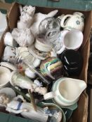 Mixed ceramics and glass including Denby and Nao