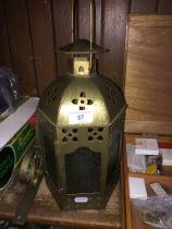 A party lite wall mounted arabesque lantern
