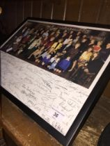 Coronation Street photo with repro signatures.
