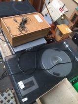 Panasonic SG-1030L record deck with cassette player, a Ferguson VHS player, a Liteon DVD player