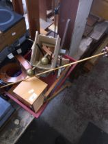 A box of misc to include coils, various scientific equipment, etc.