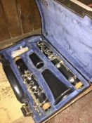 A Buffet Crampon Paris clarinet in case - missing mouthpiece.