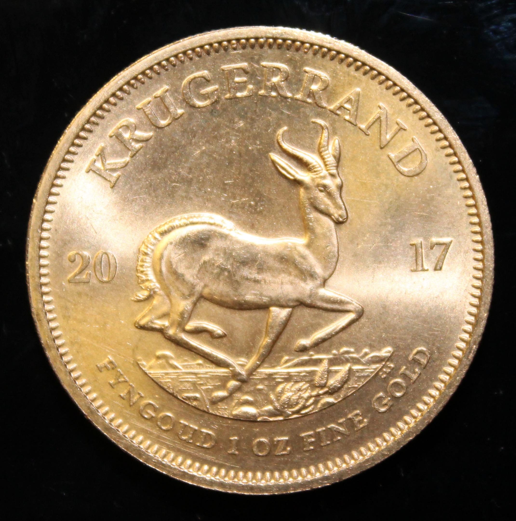 South Africa, 2017 Krugerrand, 1 oz. fine gold (91.67%) ONLY 10% BUYER'S PREMIUM (INCLUSIVE OF - Image 2 of 2