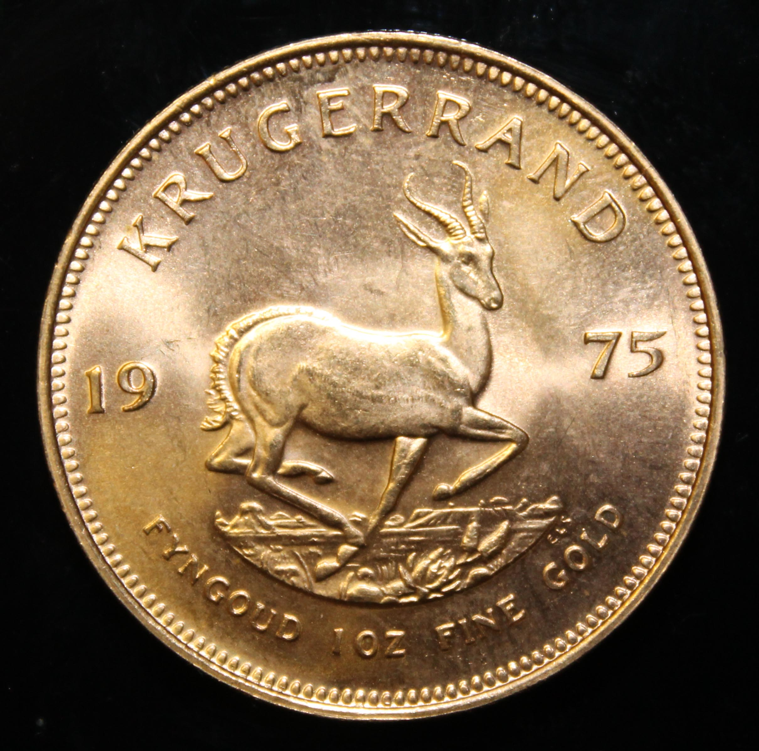 South Africa, 1975 Krugerrand, 1 oz. fine gold (91.67%) ONLY 10% BUYER'S PREMIUM (INCLUSIVE OF - Image 2 of 2