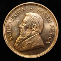 South Africa, 1974 Krugerrand, 1 oz. fine gold (91.67%) ONLY 10% BUYER'S PREMIUM (INCLUSIVE OF