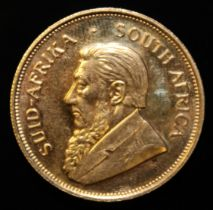 South Africa, 1972 Krugerrand, 1 oz. fine gold (91.67%) ONLY 10% BUYER'S PREMIUM (INCLUSIVE OF