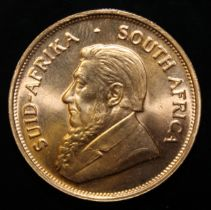 South Africa, 1975 Krugerrand, 1 oz. fine gold (91.67%) ONLY 10% BUYER'S PREMIUM (INCLUSIVE OF