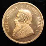 South Africa, 1977 Krugerrand, 1 oz. fine gold (91.67%) ONLY 10% BUYER'S PREMIUM (INCLUSIVE OF