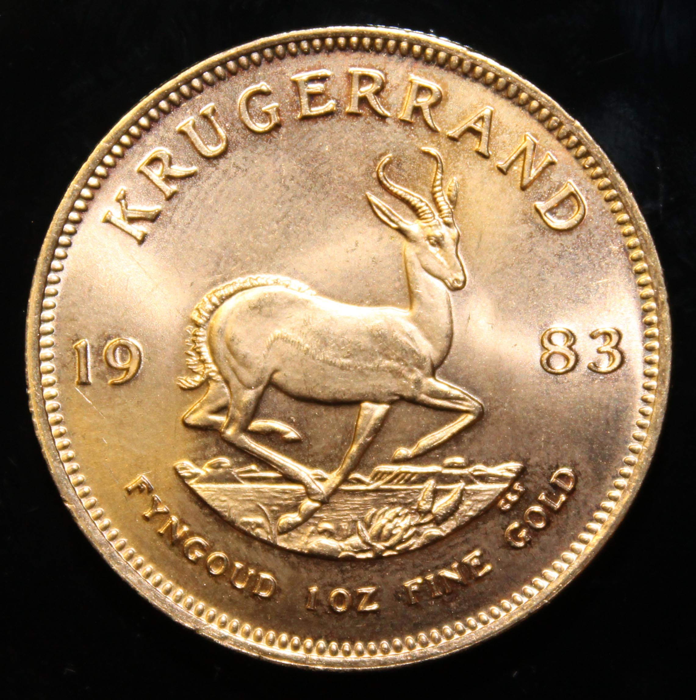 South Africa, 1983 Krugerrand, 1 oz. fine gold (91.67%) ONLY 10% BUYER'S PREMIUM (INCLUSIVE OF - Image 2 of 2