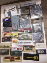 A quantity of various boxed model vehicles and planes, etc, Dinky, Eddie Stobarts, Days Gone, D'