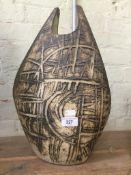 A Troika style vase, 43cm high
