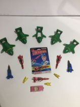 A collection of 15 Thunderbirds models by Matchbox, 2 x Thunderbird 1; 5 x Thunderbird 2; 4 x