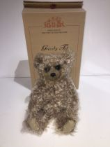 A Steiff Club Limited Edition boxed bear - Grizzly Ted, caramel tipped, 40cm
