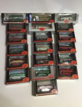 A box of 19 Gilbow Exclusive First Edition 1/76 scale buses, all boxed