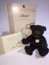 A Steiff Club Limited Edition bear - Teddy Bear, brown, 32cm with leather collar.
