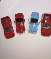 A box of four Burago model sports cars (as found) - Ferrari 250Testa Rossa (1957); Ferrari Testa