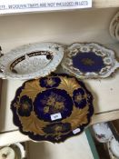 A group of three porcelain dishes including Meissen.
