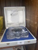 A French Daum quartz clock in box.